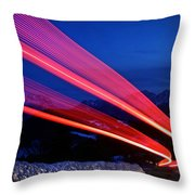 Night Driving Throw Pillow