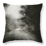 Night Driving On The Bells Line Of Road Throw Pillow