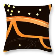 Night Driving With Off Ramps Throw Pillow