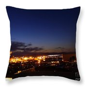 Night Falls At Old Port Of Quebec Throw Pillow