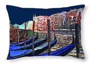 Night Falls In Venice Throw Pillow