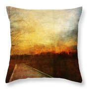 Night Falls Throw Pillow