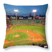 Night Fenway Pop Throw Pillow
