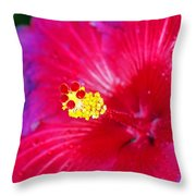 Night Fire Hibiscus Throw Pillow