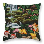 Night Fish Hand Embroidery Throw Pillow