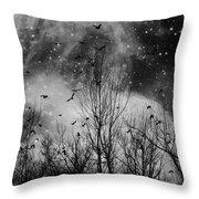 Burst Of The Night Flight Throw Pillow