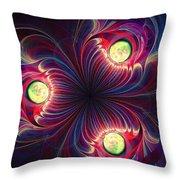 Night Flower Throw Pillow