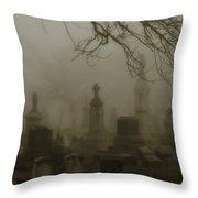 Dark Rolling Night Fog Throw Pillow