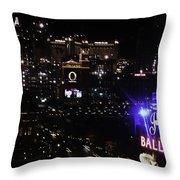 Night In Vegas 2008 Throw Pillow