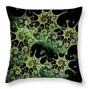 Night Lace Throw Pillow