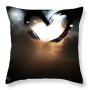 Night Life Love Throw Pillow