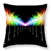 Night Light Panoramic Throw Pillow