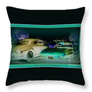 Night Lights With The Classics Throw Pillow
