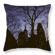 Night Lights Empire State Throw Pillow