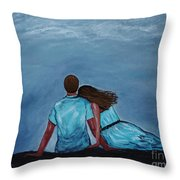 Night Love Throw Pillow