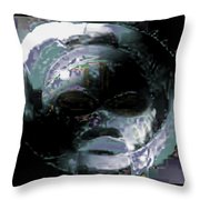 Night Mask Throw Pillow