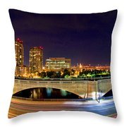 Night Moves 2-boston Throw Pillow by Joann Vitali