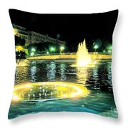 night Nitsa Throw Pillow