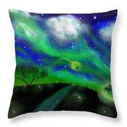 Night Of The Fireflies Throw Pillow