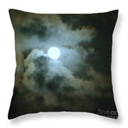 Night Of The Moon Throw Pillow