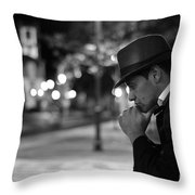 Night Of Thoughts  Throw Pillow