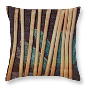 Night On The Bread Stick Planet Throw Pillow