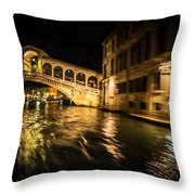 Night On The Grand Canal Throw Pillow