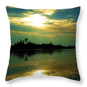 Night On The Water Throw Pillow
