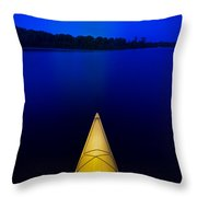 Night Paddle Throw Pillow
