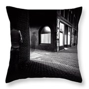 Night People Main Street Throw Pillow by Bob Orsillo