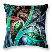 Night Phoenix Throw Pillow