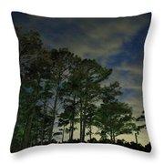 Night Pines Throw Pillow