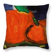Night Pumpkins Throw Pillow