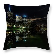 Night Reflections I Throw Pillow