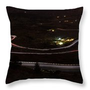Night Road Throw Pillow