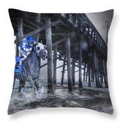 Night Run II Throw Pillow