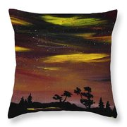 Night Scene Throw Pillow