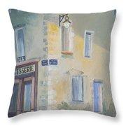 Night Scene In Arles France Throw Pillow