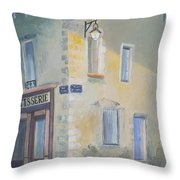 Night Scene In Arles France Throw Pillow