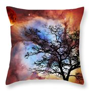 Night Sky Landscape Art By Sharon Cummings Throw Pillow