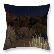 Night Sky Over Zion II Throw Pillow