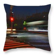 Night Streaks Throw Pillow by Joann Vitali