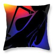 Night Sun Throw Pillow