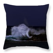 Night Surf Throw Pillow
