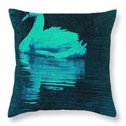Night Swan L Throw Pillow