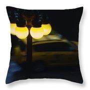 Night Taxi Throw Pillow