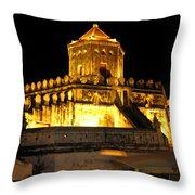 Night Temple Throw Pillow