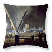 Night Time Frac Throw Pillow