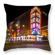 Night Time In London Throw Pillow