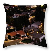 Night Time In The Valley Throw Pillow